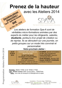 Ateliers SPAA 3 avril 2014 picture